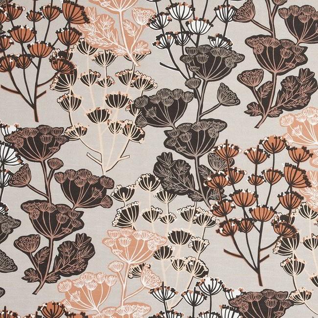 Flourish 794 Mocha Henna Fire Resistant Fabric