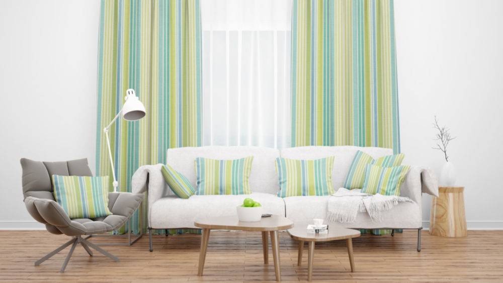 Lakeside Hawkshead Duckegg Flame Retardant Curtains