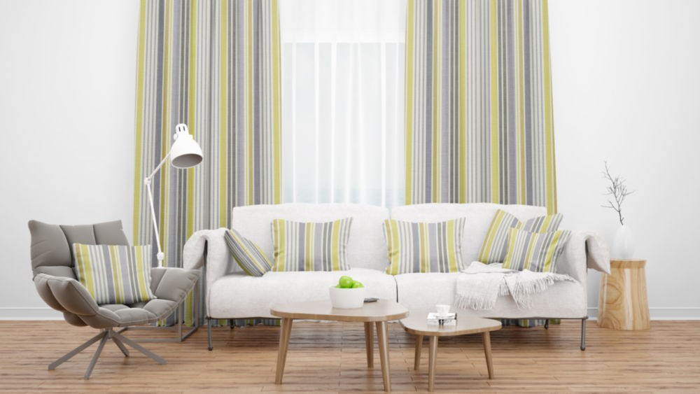 Lakeside Hawkshead Gold Flame Retardant Curtains