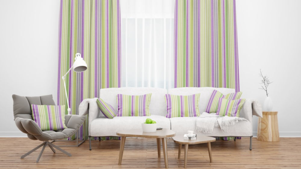 Lakeside Hawkshead Heather Flame Retardant Curtains