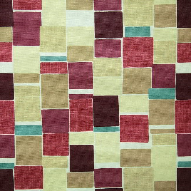 Jitterbug 681 Mulberry Linen Fire Resistant Fabric