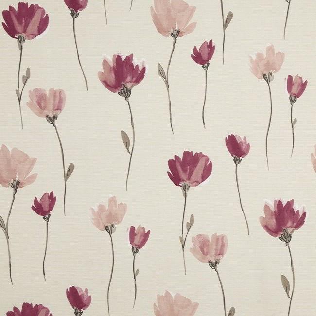 Juliet 688 Rose Linen Fire Resistant Curtains