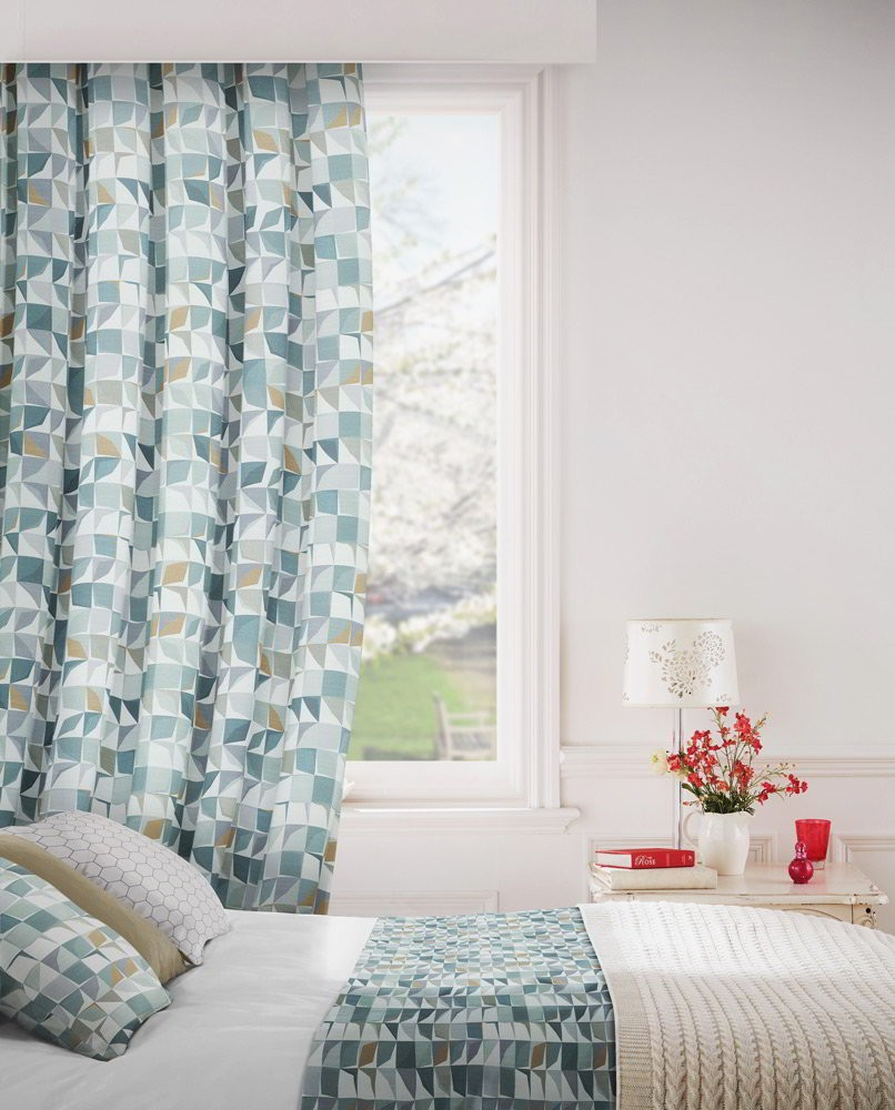 Kinetic 253 Cardamom Fire Resistant Curtains