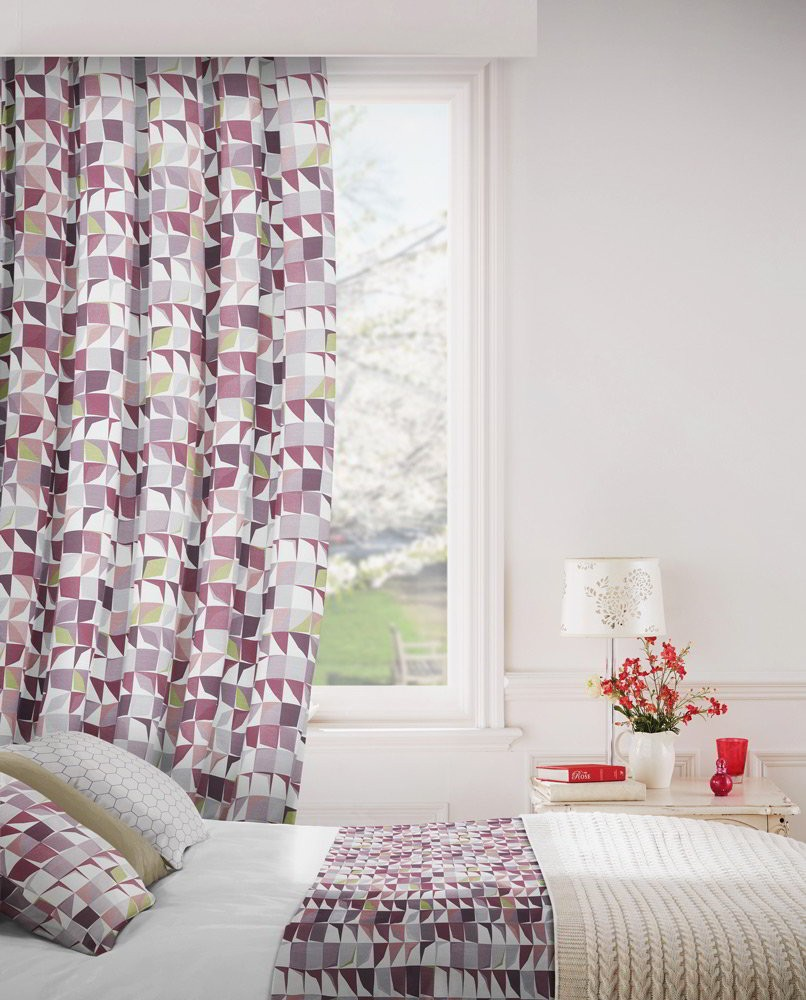 Kinetic 481 Damson Fire Resistant Curtains