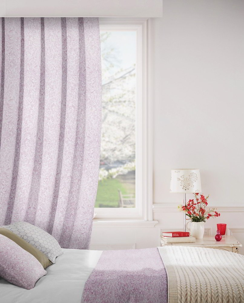 Lawrence 664 Mauve Fire Resistant Curtains