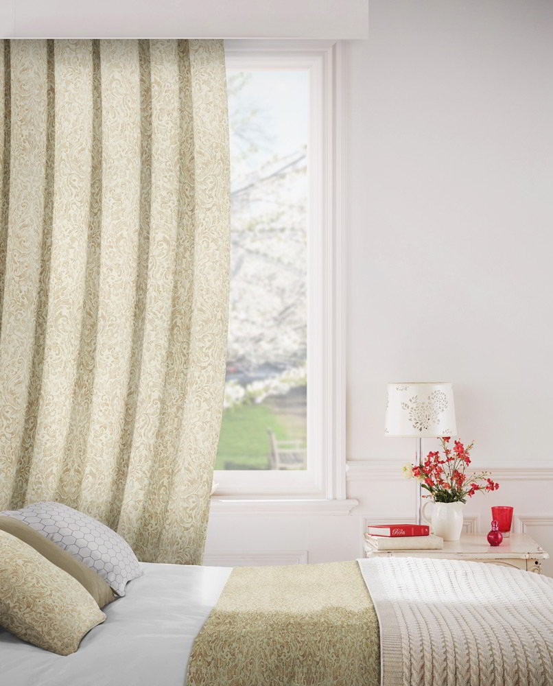 Lawrence 800 Beige Fire Resistant Curtains