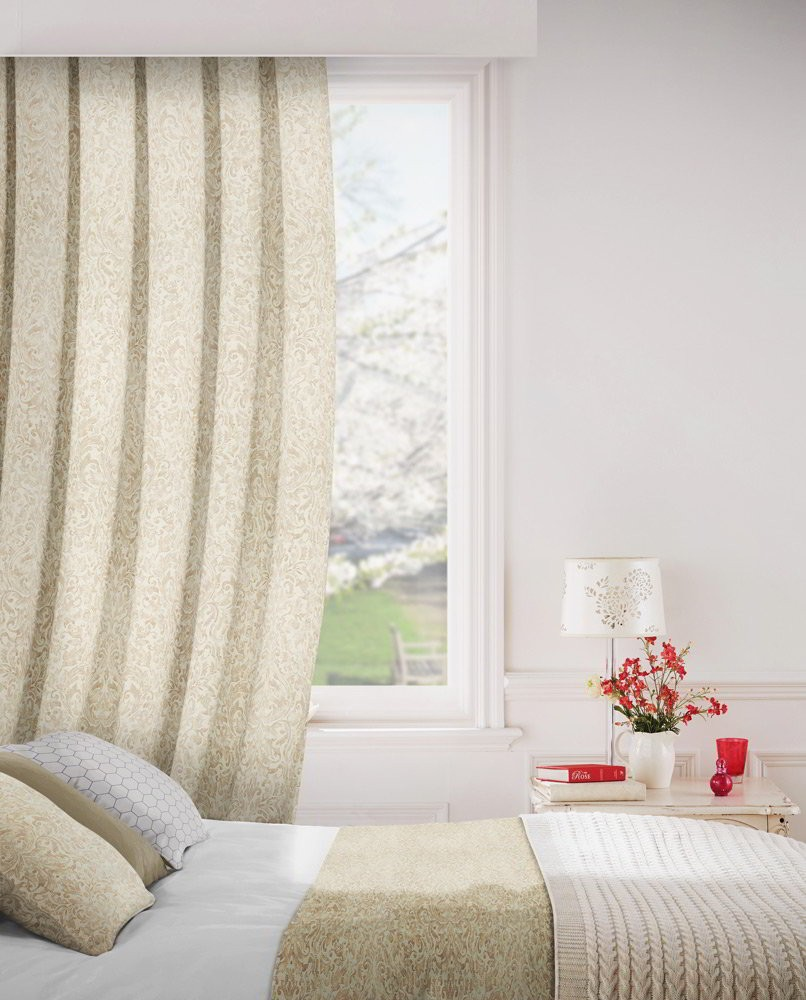 Lawrence 899 Sepia Fire Resistant Curtains