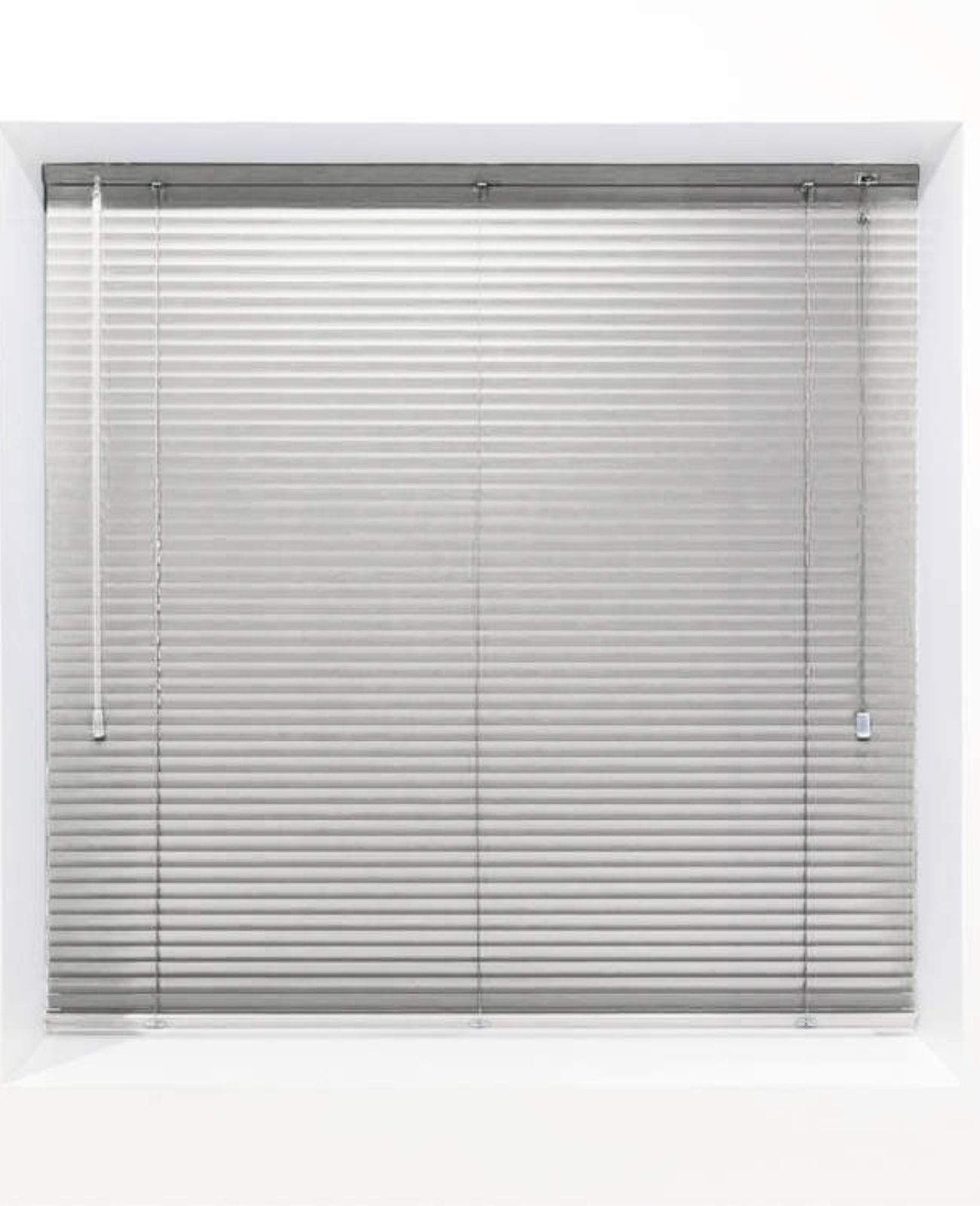 Light Grey 25mm Metal Venetian Blind - Made to Measure