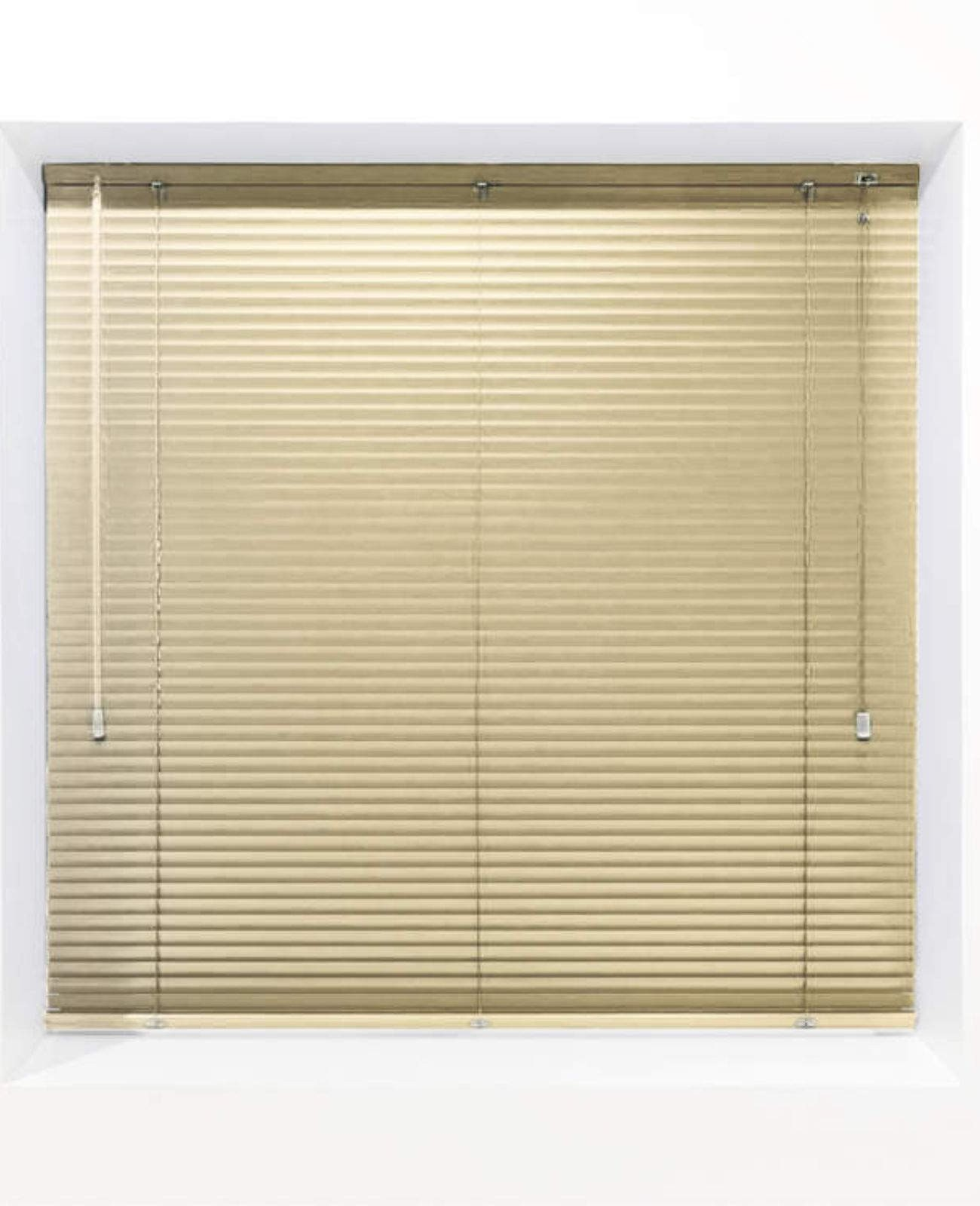 Light Yellow 25mm Metal Venetian Blind - Made to Measure
