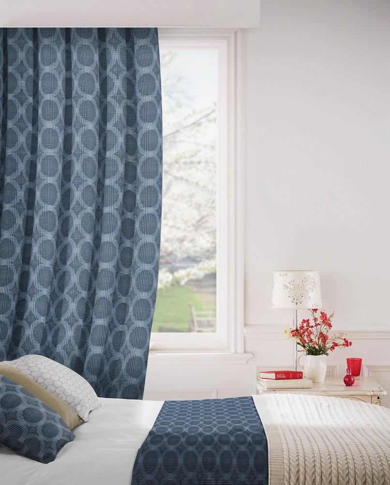 Logic 100 Blue Fire Resistant Curtains