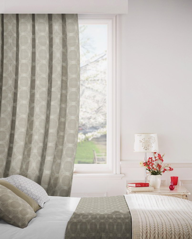 Logic 804 Fawn Fire Resistant Curtains