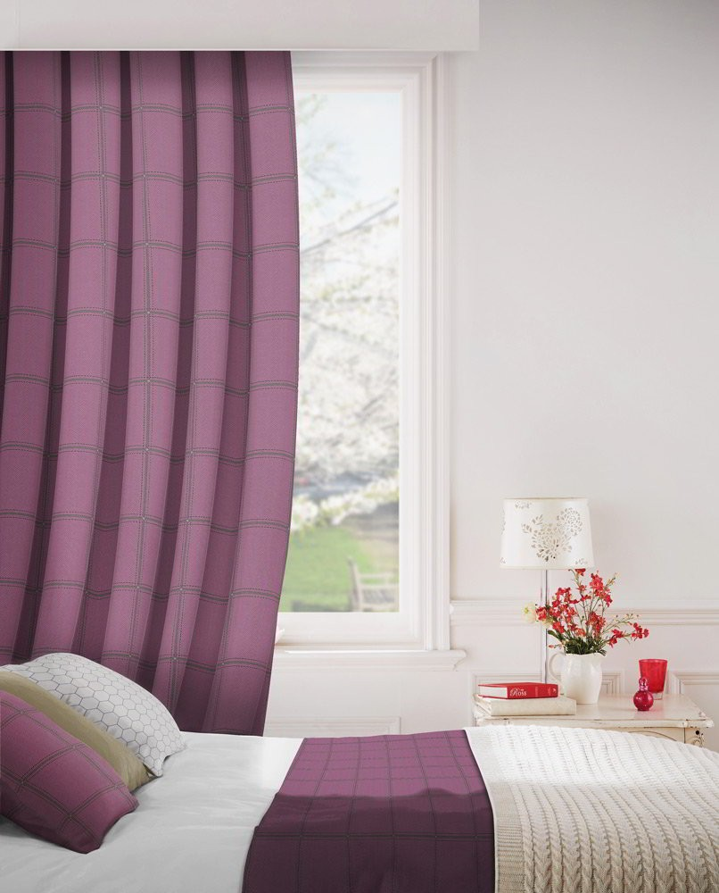 Milan 624 Mulberry Fire Resistant Curtains