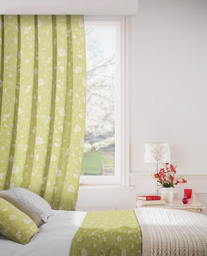 Monaco 218 Fern Fire Resistant Curtains