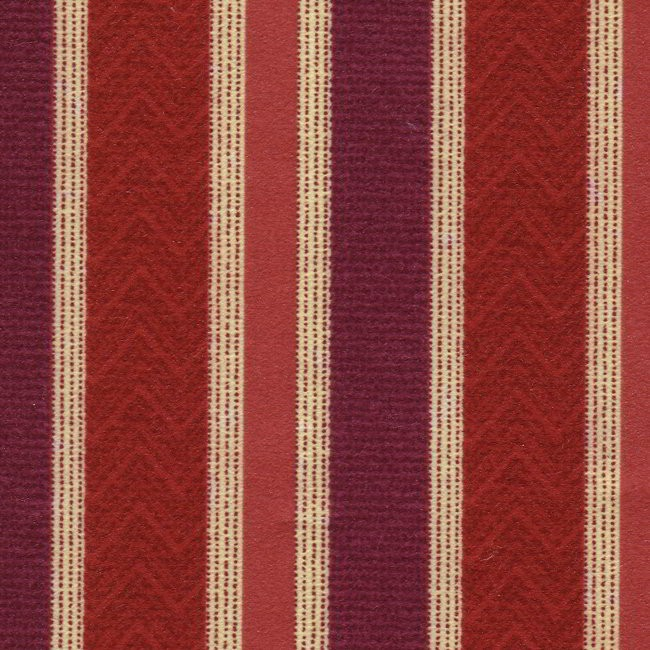 Nobel Stripe 615 Berry Fire Resistant Curtains