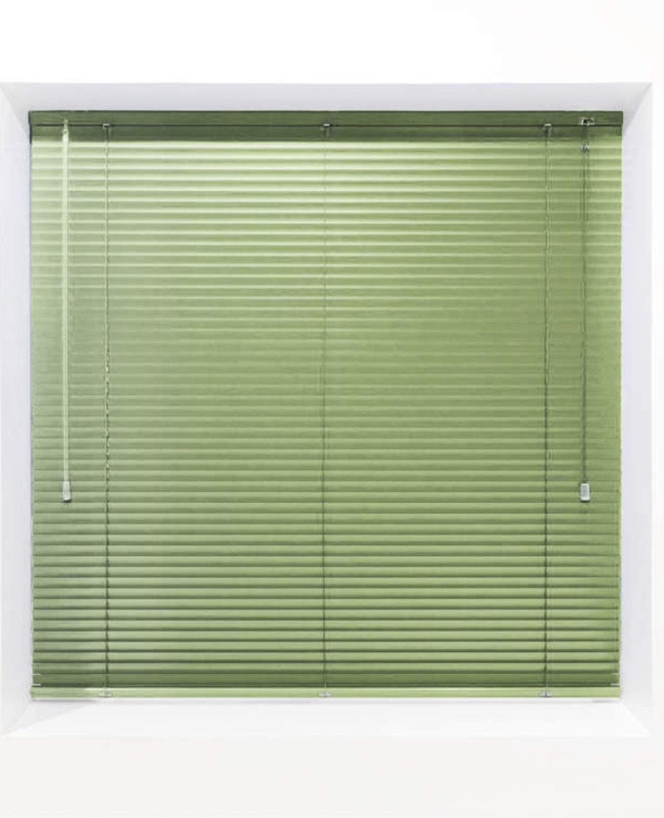 Olive 25mm Metal Venetian Blind - Made to Measure