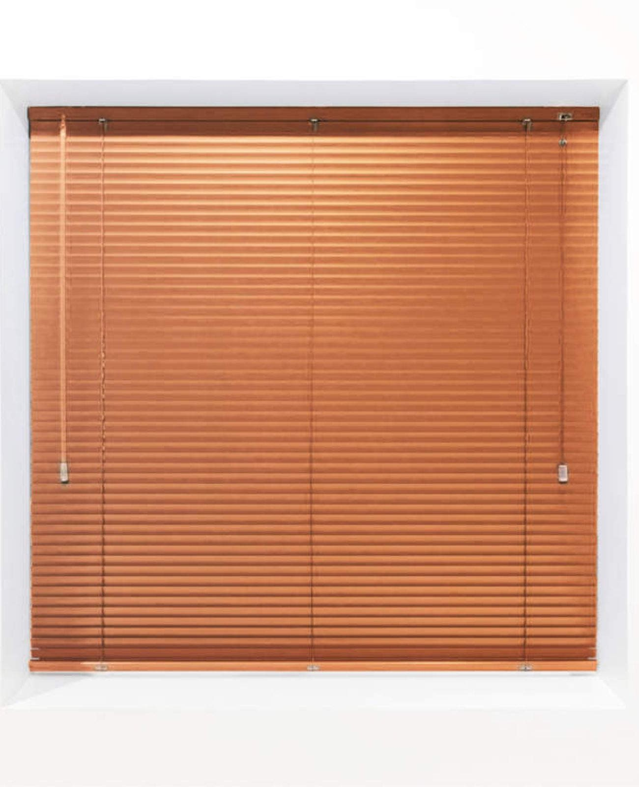 Orange 25mm Metal Venetian Blind - Made to Measure