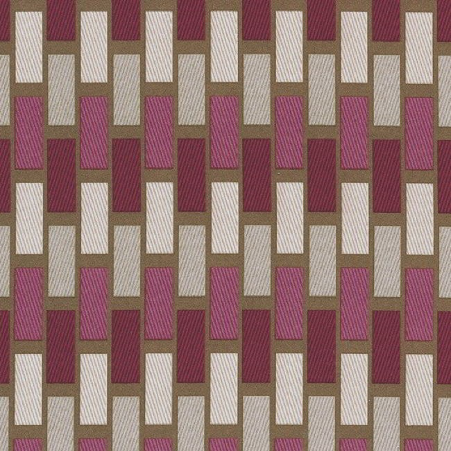 Plaza 457 Raspberry Chocolate Fire Resistant Fabric