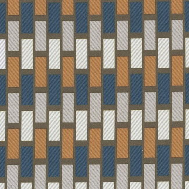 Plaza 716 Mocha Indigo Fire Resistant Fabric