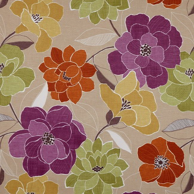 Poetry 678 Mulberry Sand Fire Resistant Fabric