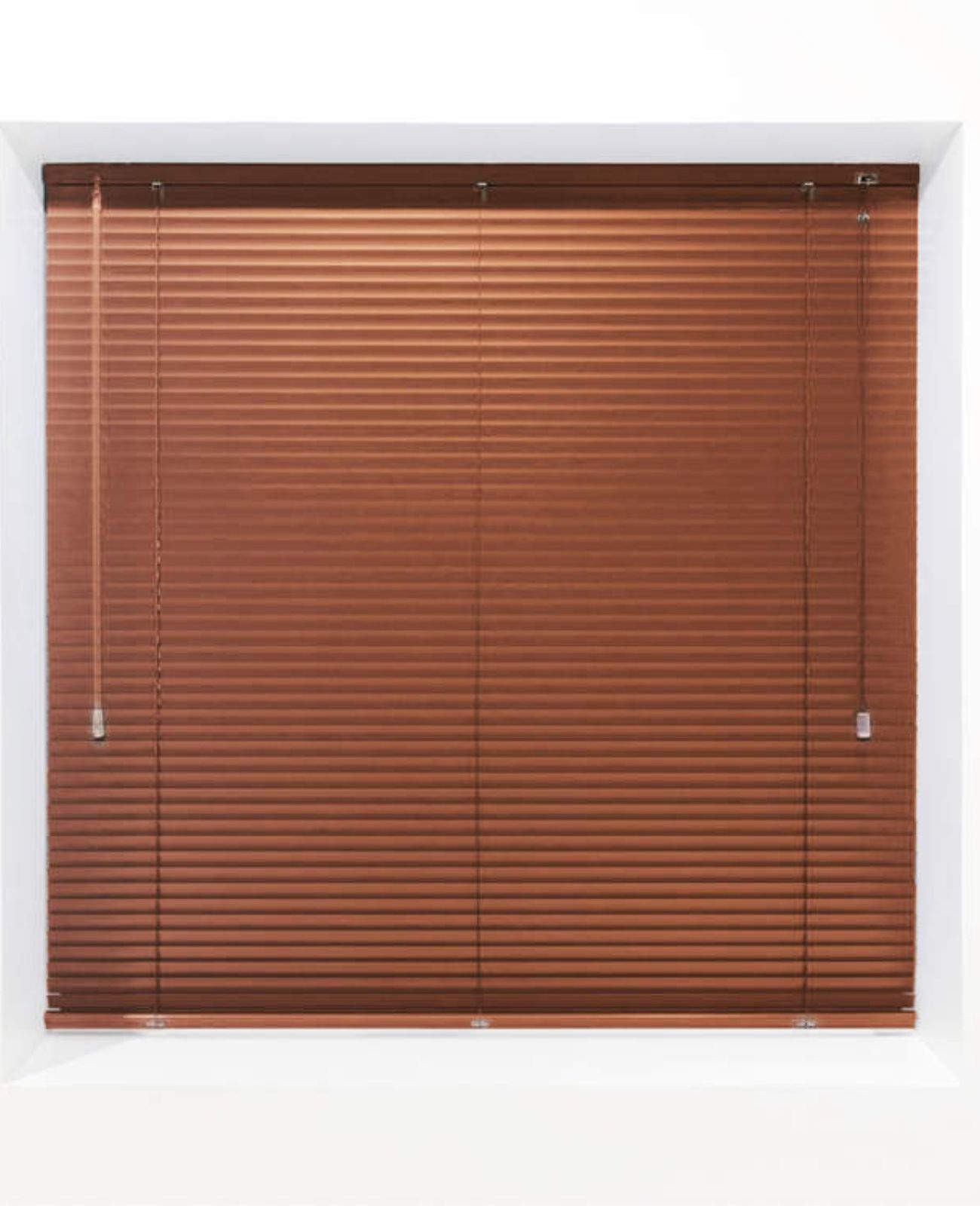 Saddle Brown 25mm Metal Venetian Blind - Made to Measure