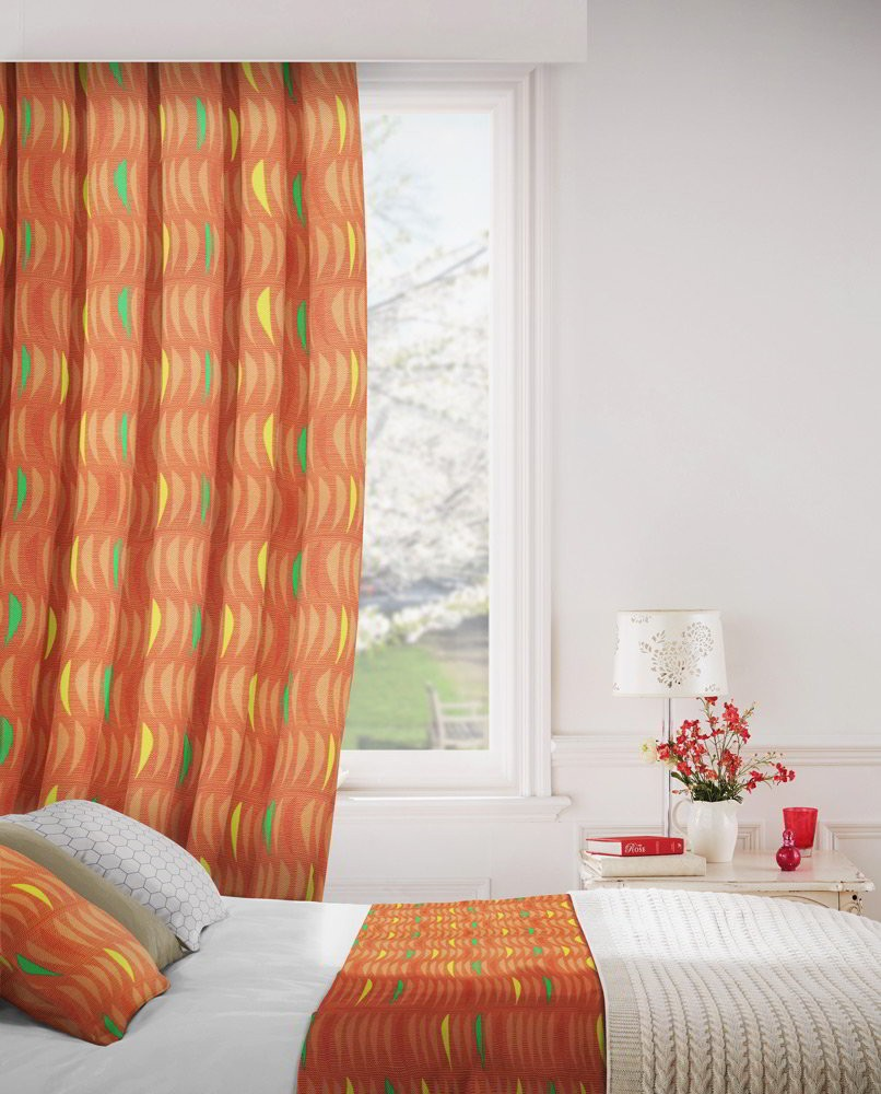 Salsa 404 Henna Fire Resistant Curtains