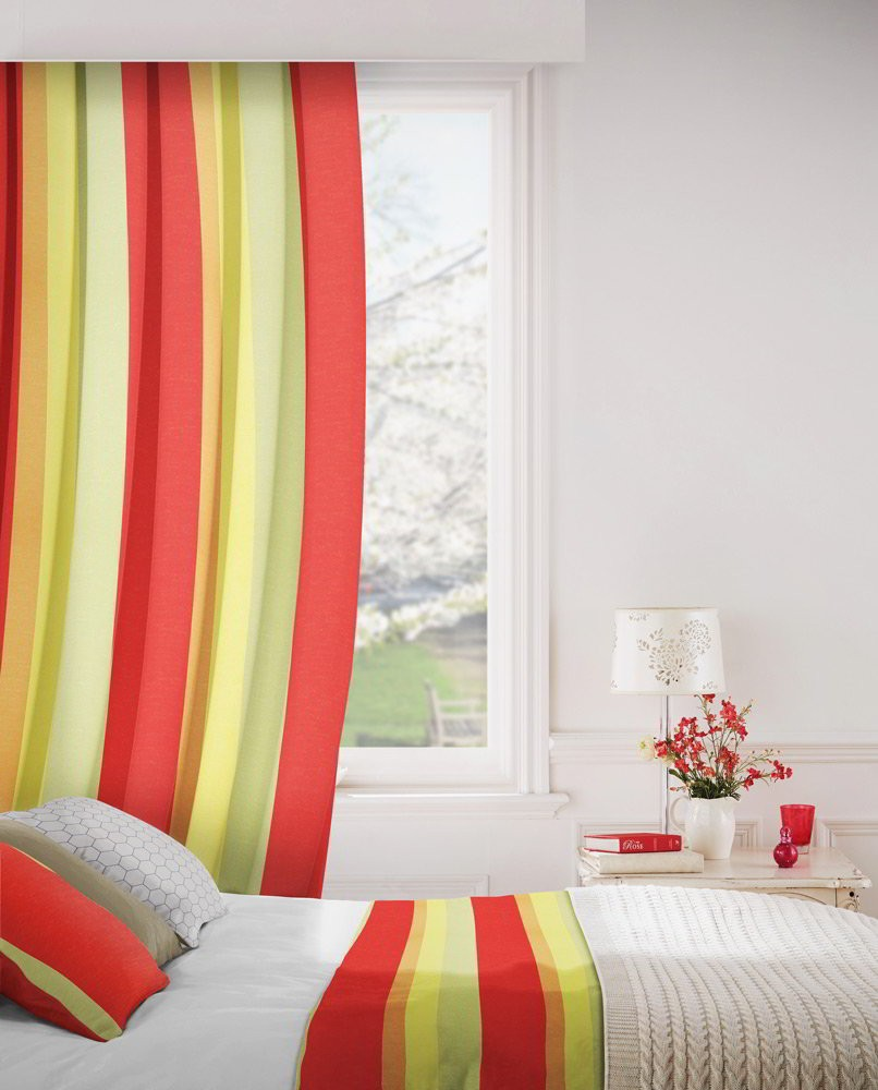 Sierra 420 Red Green Fire Resistant Curtains