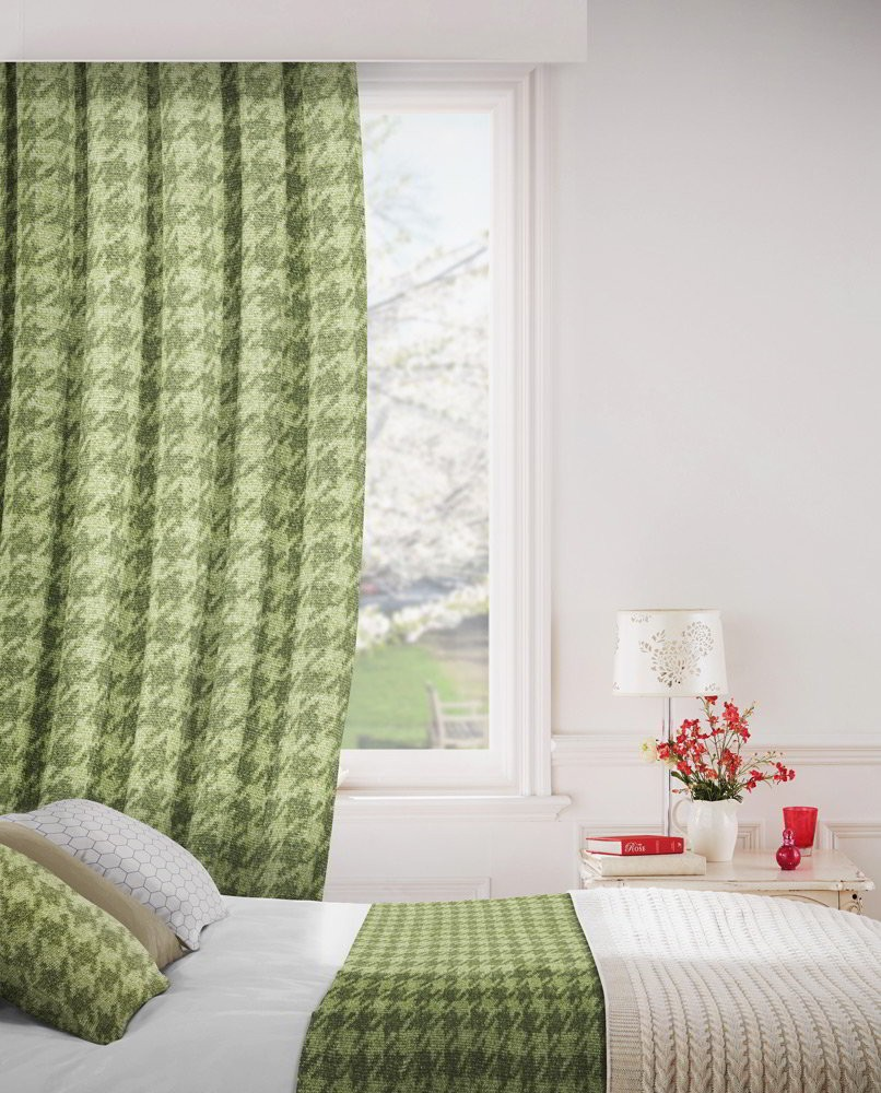 Stella 231 Olive Fire Resistant Curtains