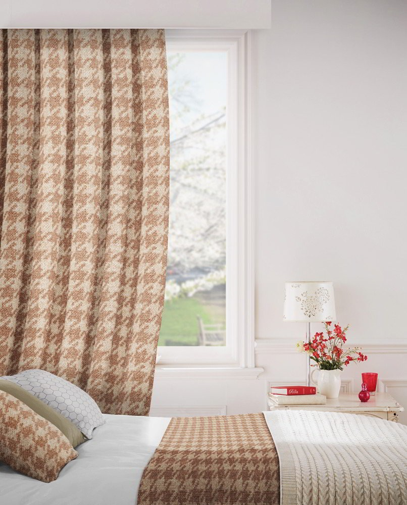 Stella 408 Terracotta Fire Resistant Curtains