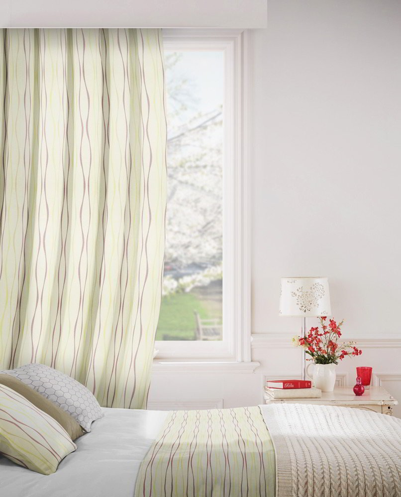 Toro 867 Linen Mulberry Fire Resistant Curtains