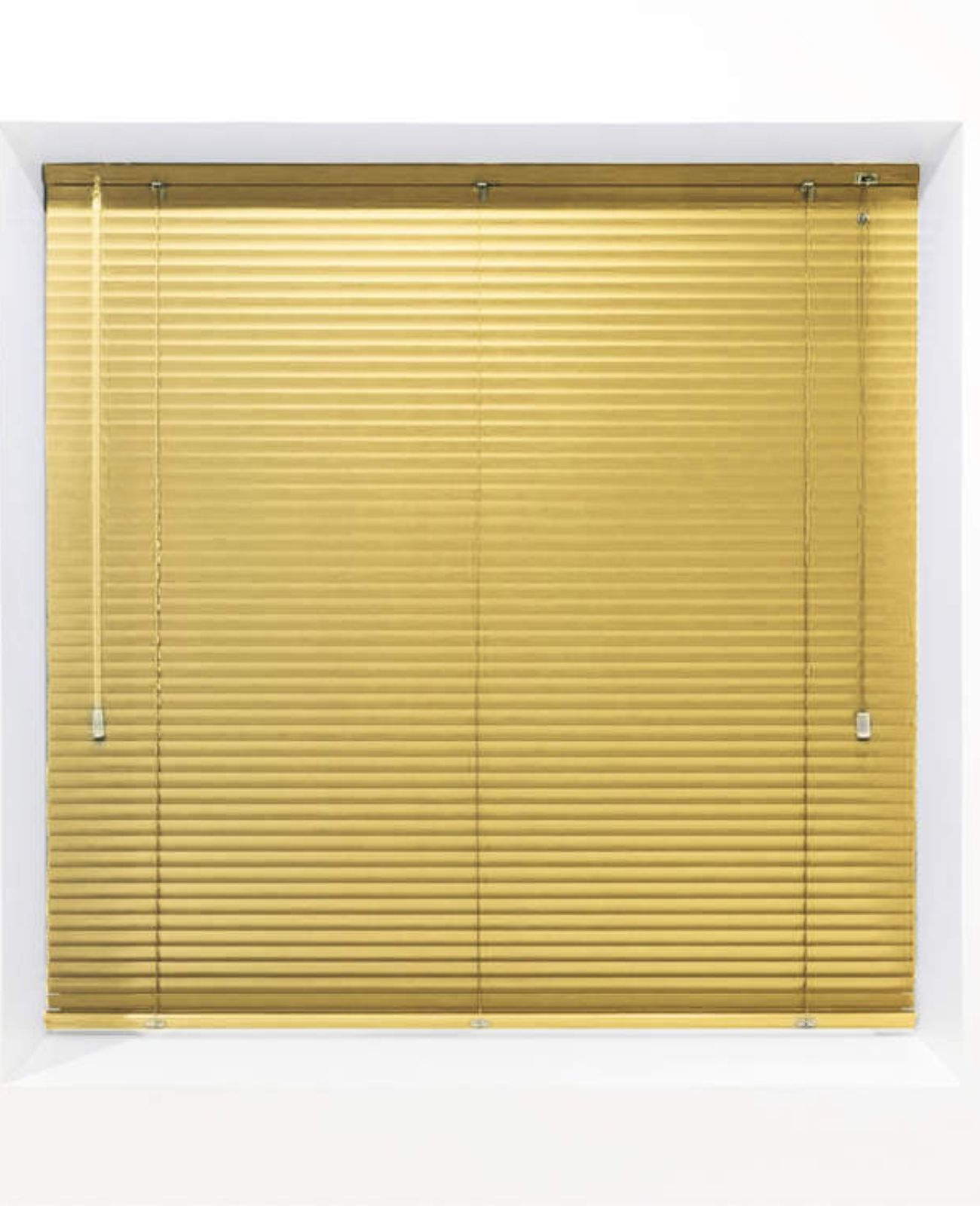 Yellow 25mm Metal Venetian Blind - Made to Measure