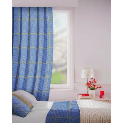 Albury in Indigo Flame Retardant Curtain