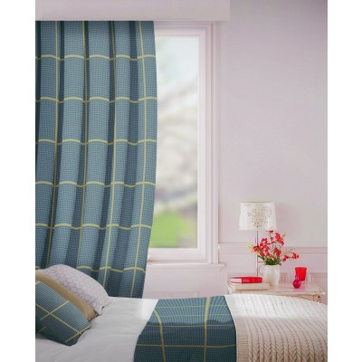 Albury in Pewter Flame Retardant Curtain