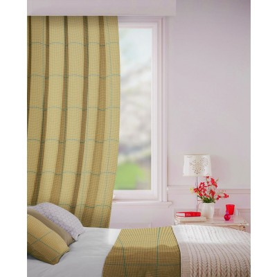 Albury in Stone Flame Retardant Curtain