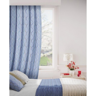 Austen 111 Peacock Fire Resistant Curtains