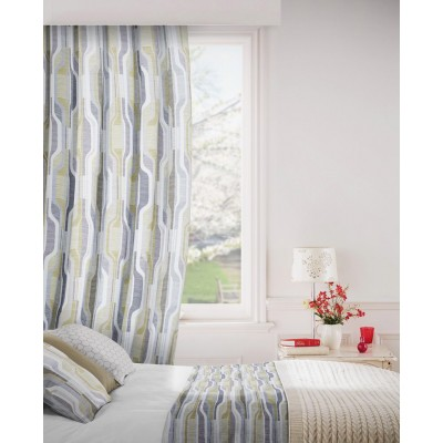 Balance 299 Citrus Charcoal Fire Resistant Curtains