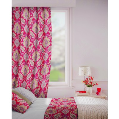 Beaumont in Claret Flame Retardant Curtain