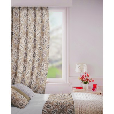 Beaumont in Cocoa Flame Retardant Curtain