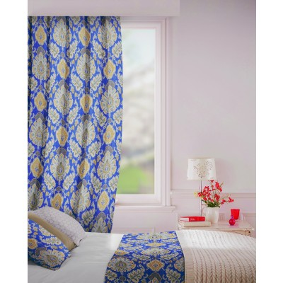 Beaumont in Indigo Flame Retardant Curtain