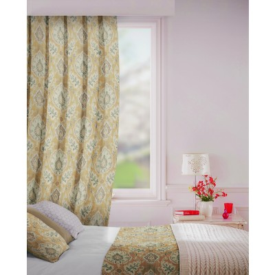 Beaumont in Stone Flame Retardant Curtain