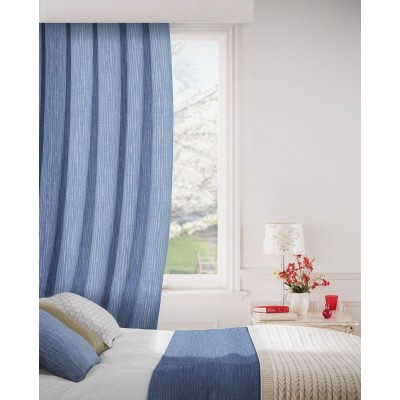 Breeze 104 Cobalt Fire Resistant Curtains