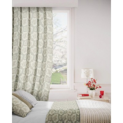 Burley 852 Beige Cream Fire Resistant Curtains