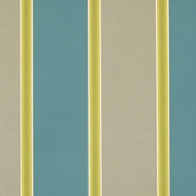 Capital Stripe 289 Teal Latte Fire Resistant Curtains