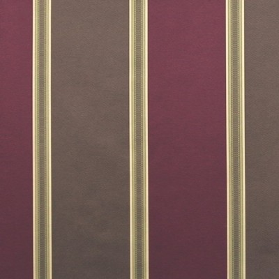 Capital Stripe 457 Raspberry Chocolate Fire Resistant Curtains