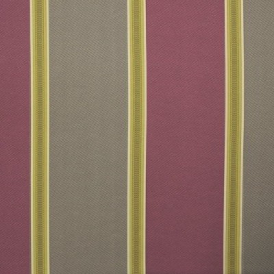 Capital Stripe 673 Mulberry Mink Fire Resistant Curtains