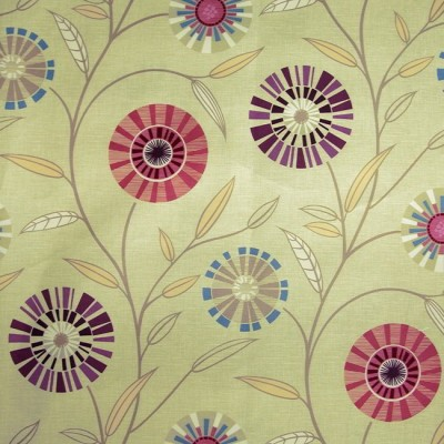 Carnival 867 Linen Mulberry Fire Resistant Fabric