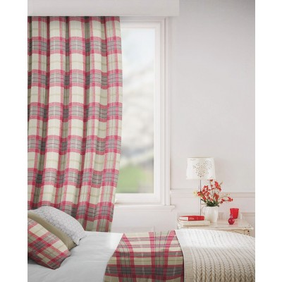 Carterton in Claret Flame Retardant Curtain