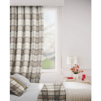 Carterton in Cocoa Flame Retardant Curtain