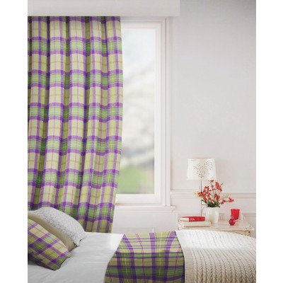 Carterton in Heather Flame Retardant Curtain