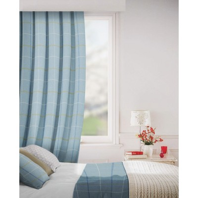 Clevedon in Chambray Flame Retardant Curtain
