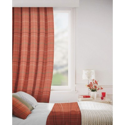 Clevedon in Copper Flame Retardant Curtain